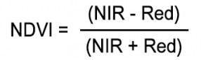 NDVI formulae
